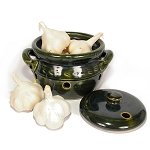 S.C.T-0.6L Mountain Green Garlic Keeper Crock