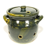 S.C.T-1L Mountain Green Garlic Keeper Crock