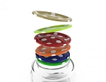 Mason Jar Lids 500ml (Polka Dot Design) Set of 12