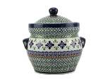 Zaklady-2L Gingham Flowers Fermenting Crock With Weights