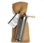 Gourmet du Village-Nutmeg with Grater in a Burlap Bag
