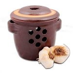 S.C.T-Rustic Brown Garlic Keeper Crock