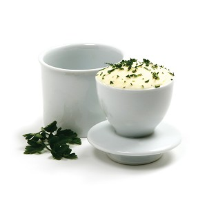 NORPRO-White Porcelain Butter Keeper