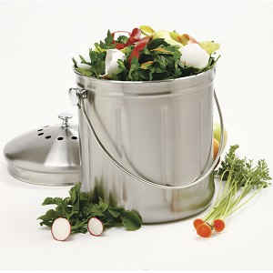 NORPRO-1.5 Gallon Compost Keeper Stainless Steel